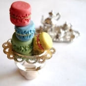 Little tower of macarons