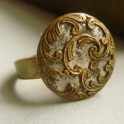 Victorian gold and silver vintage ring