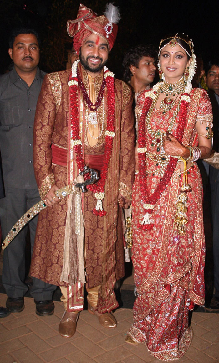 sunny leone shilpa shetty and raj kundra wedding photos