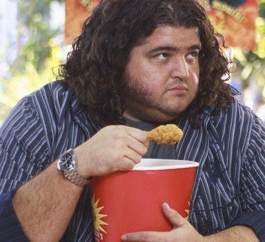 lost, chicken, hugo reyes, eating, comiendo, harley, simiopata, rincon