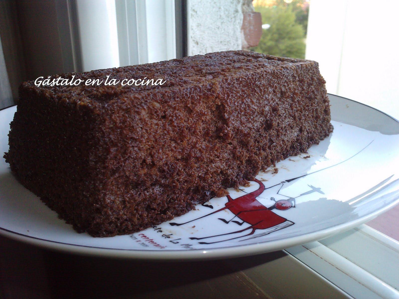 G stalo en la cocina bizcocho de chocolate y nueces al - Bizcocho con microondas ...