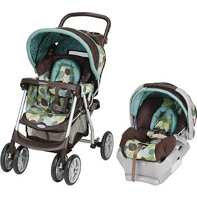 Two Tuminos And A Little Baby Travel System Stroller Car