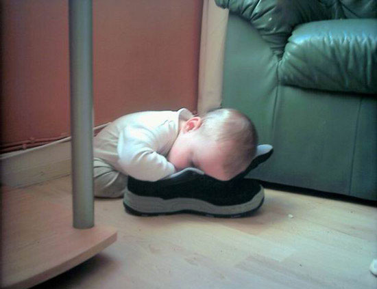 Cute Baby girl boy asleep so Hard photo 02