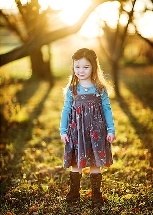 Cute Baby Girl in Nature photo 05