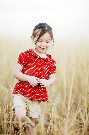 Cute Baby Girl in Nature photo 06