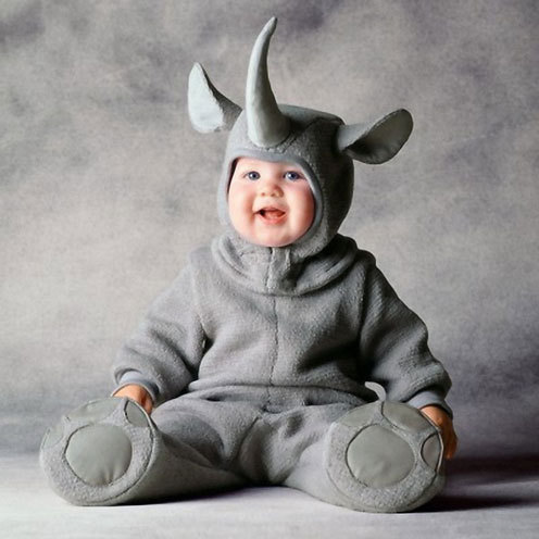cute baby picture in animal dress