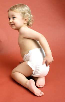 Cute Baby boy in diaper photo