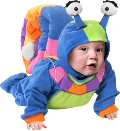 Cute baby boy photo in Snail costume