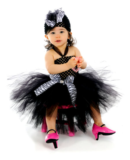 Cute baby girl photo in Black Angel costume