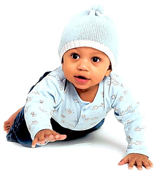 Very cute infant baby boy photo