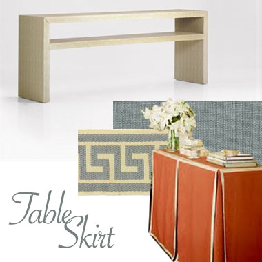 buffet table skirting