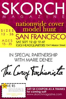 Plus size modeling, Bay area plus size models, Skorch Magazine