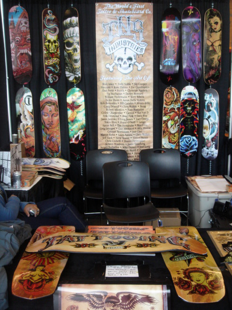 Coming to a tattoo convention near you! TNS booth in Seattle, WA.