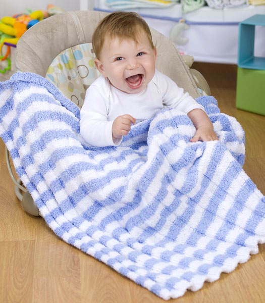 Free baby knitting patterns: Heaven Sent Baby Blanket