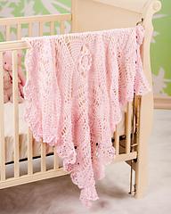 Free baby knitting patterns: Crochet Heirloom Baby Blanket