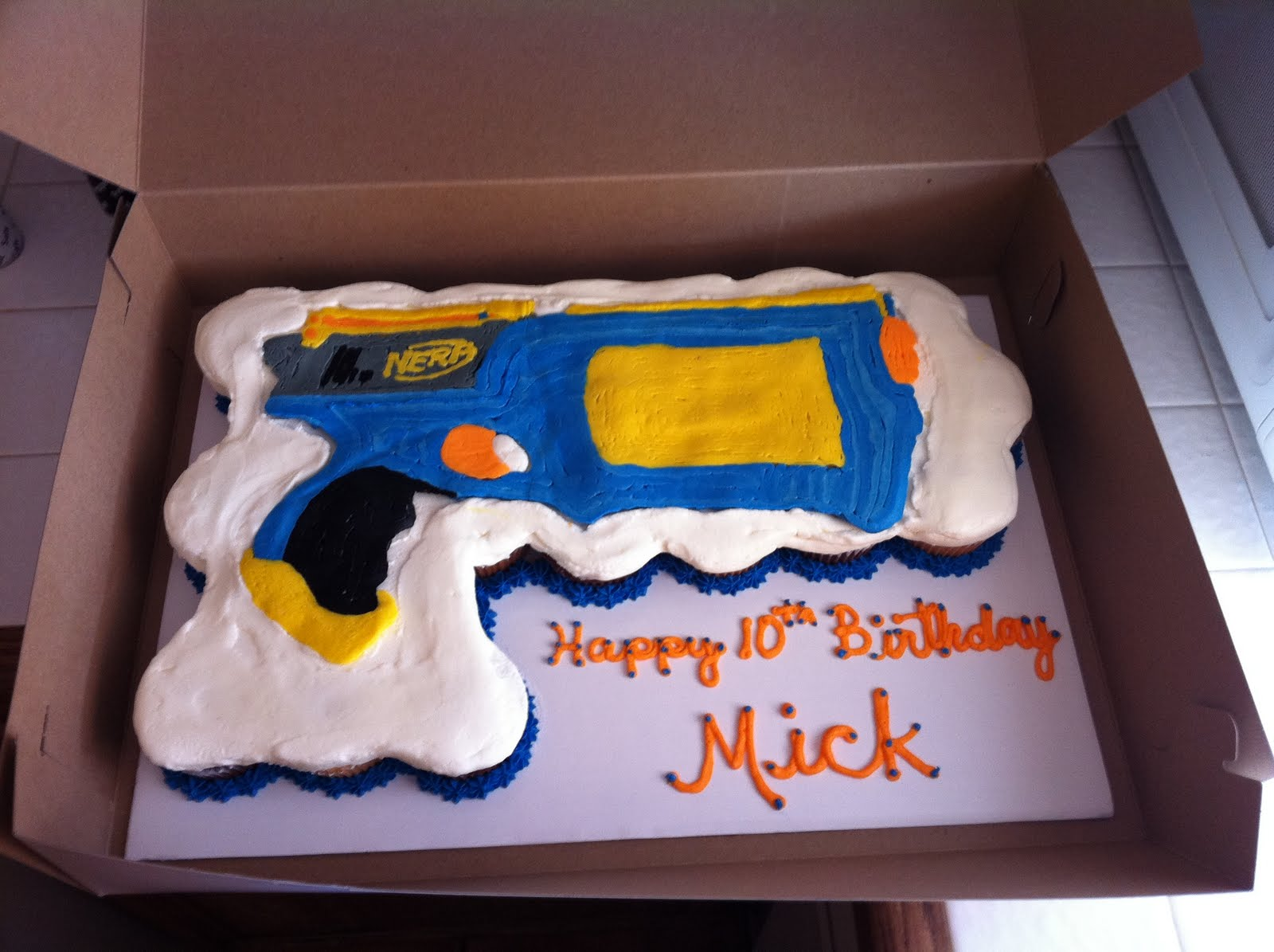 Cake Territory Nerf Gun Cupcake Cake