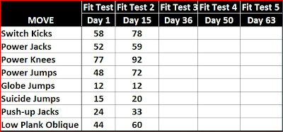 A Golfpro's Life as a Triathlete: Insanity - Fit Test #2 - Day 15 ...