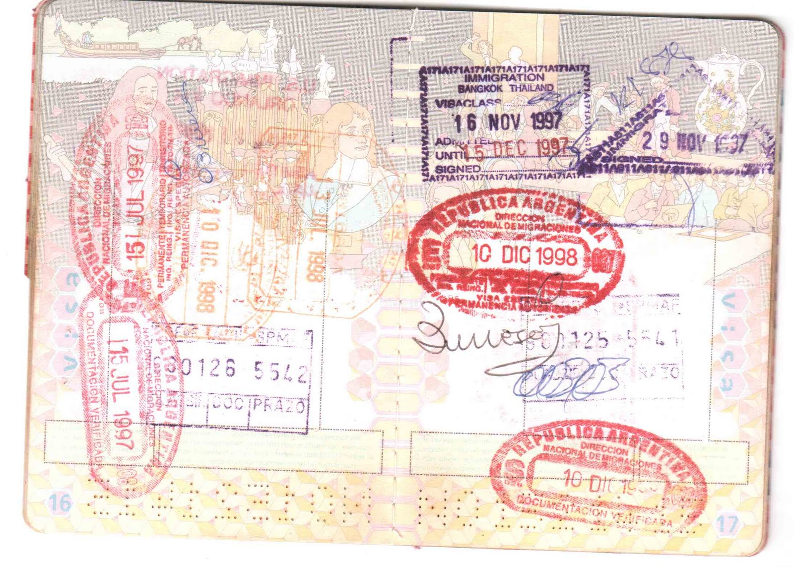US passport - background pictures