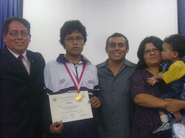 V OLIMPIADA PERUANA DE BIOLOGIA O.P.B. 2010. BICAMPEON NACIONAL GANADOR DE LA  MEDALLA DE ORO 2010