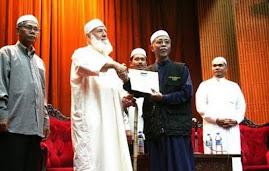 Bersama dengan mantan Imam Masjid Al-Aqsa Dr. Shaikh Muhammad Mahmoud As-Siyyam