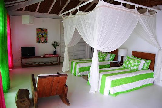Bangalôs com camas de solteiros