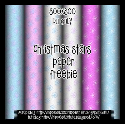 http://hippiedazescrappinstuff.blogspot.com/2009/11/christmas-stars-paper-pack-freebie.html