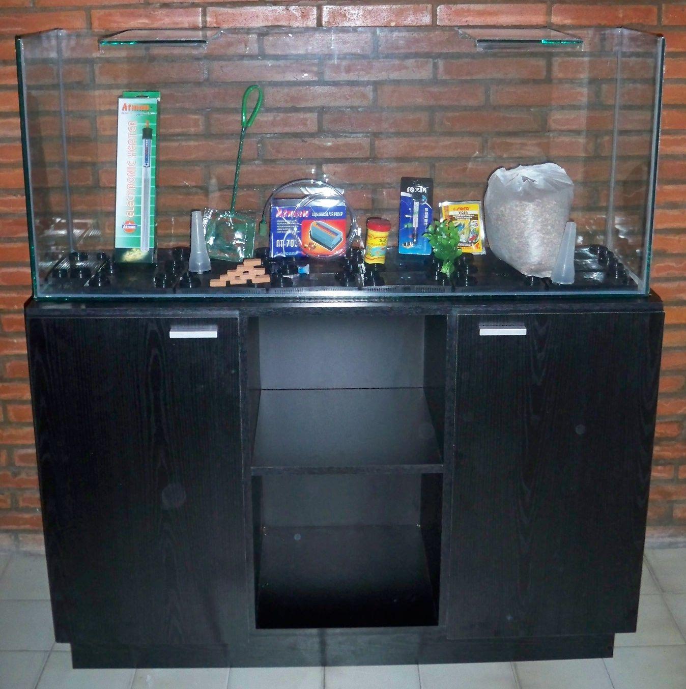 Proyecto mesa 100 litros tecnica y equipamiento de agua - Pecera con mueble ...