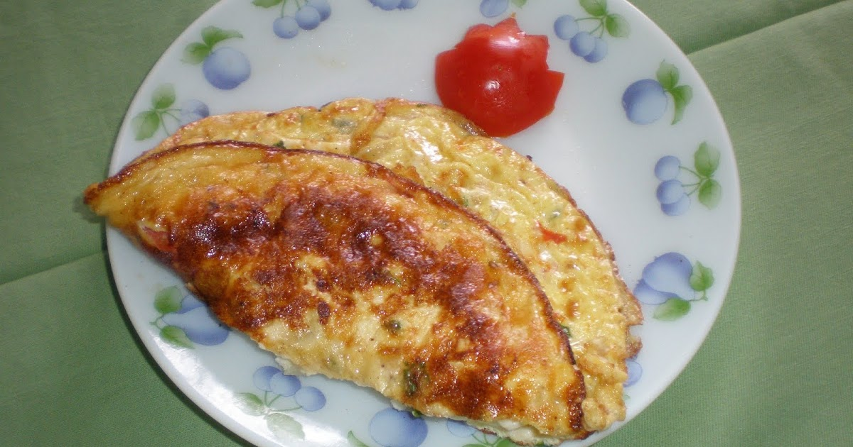Niya's World: Cheese omelette with tomato