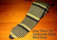 Nick Bronson Fine Wool Tie - Datacode Stripe