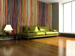 sofa papel parede verde imagens