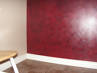 is an example of 39 ragging 39 a burgundy black glaze was ragged over. Black Bedroom Furniture Sets. Home Design Ideas
