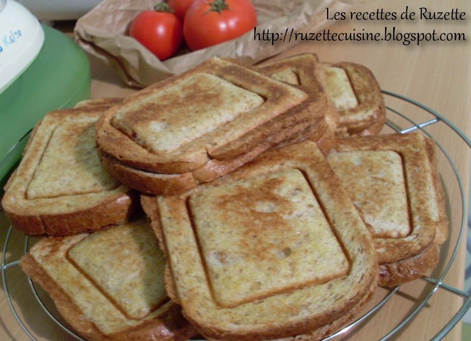 Les recettes de ruzette croque monsieur for Congeler du pain de mie