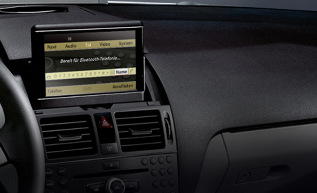 Mercedes benz bluetooth system phone book downloading via for Mercedes benz cell phone cradle