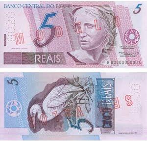 cinco reais