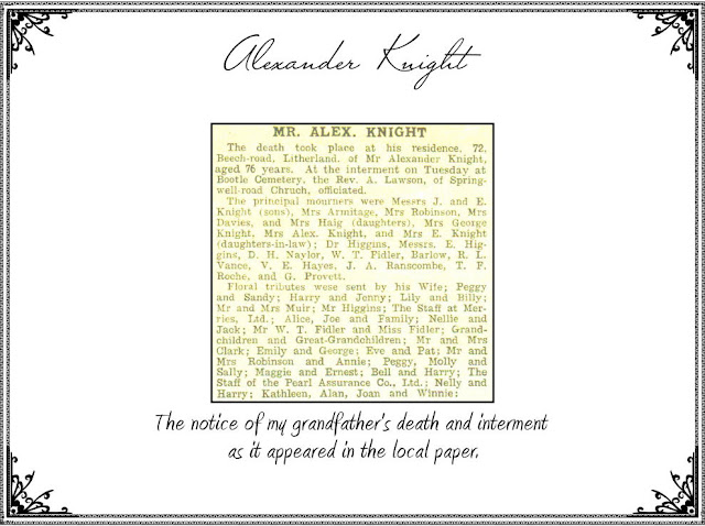 Obituary Of Alexander Knight