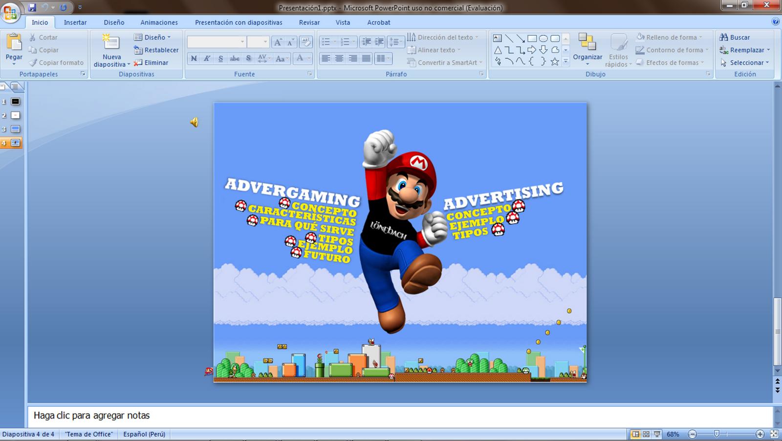 Presentaciones Creativas Mario Bros Gr 225 Fico Creativo