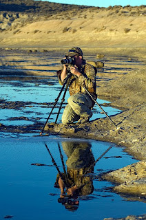 Andy Casagrande National Geographic photographer and filmaker preparing one time lapse