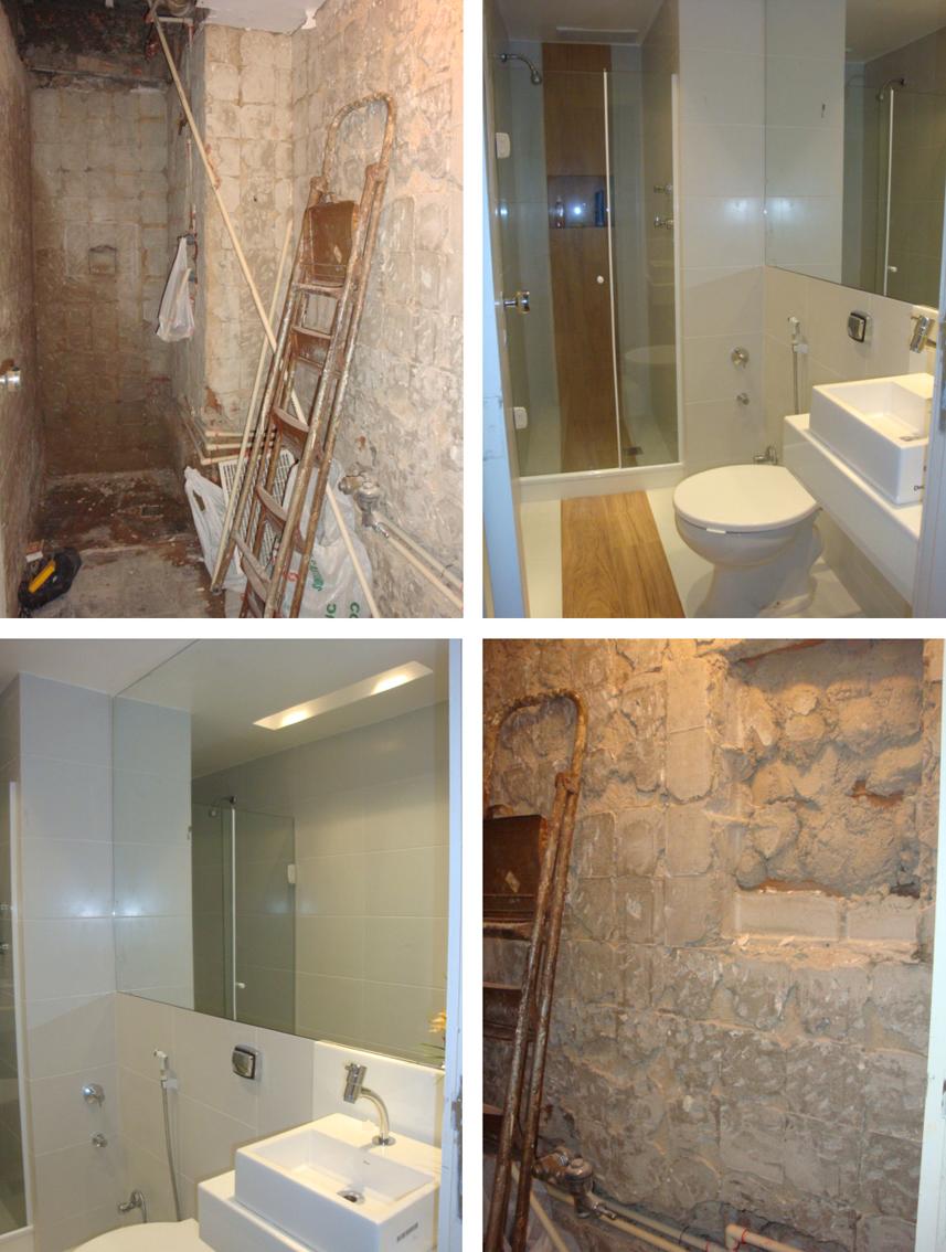 AC Design de Interiores Banheiro social Depois -> Banheiro Pequeno Estreito