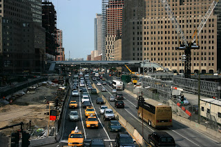 West Street traffic looking North from Ground Zero by lawhawk 2007