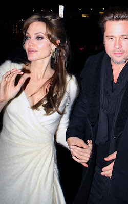 Angelina Jolie with Brad Pitt at