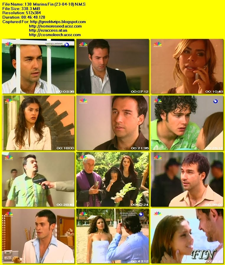 ΜΑΡΙΝΑ - Επεισόδιο 130 - Τέλος - MARINA - Episode 130 -  Fin N.M.S. (ΜΕΤΑΓΛΩΤΤΙΣΜΕΝΟ ΣΤΑ ΕΛΛΗΝΙΚΑ) (23-04-2010) (STAR)