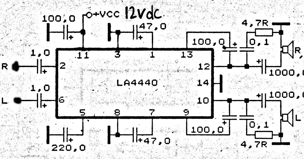 schematic diagram  power amplifier for laptop