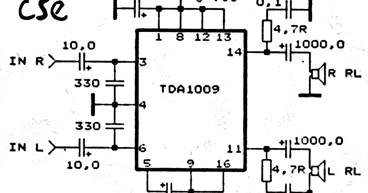18 w stereo amplifier circuit
