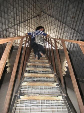 Rickety ladder of death.