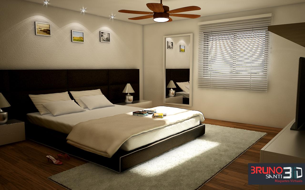 Eletronica Bruno Santi 3D: Projeto m² Sala Quarto e Cozinha #AC1F20 1280 800