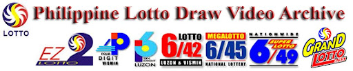 Philippine Lotto Draw Video Result