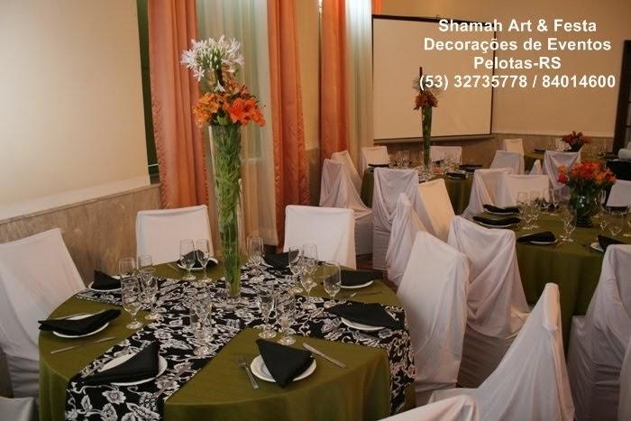 Decoração Pelotas decoração de formatura  preto, verde,laranja e