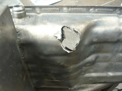 oil pan hole