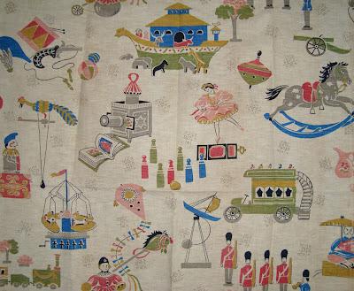 Morgaine le fay antique textiles and more vintage for Vintage childrens fabric prints
