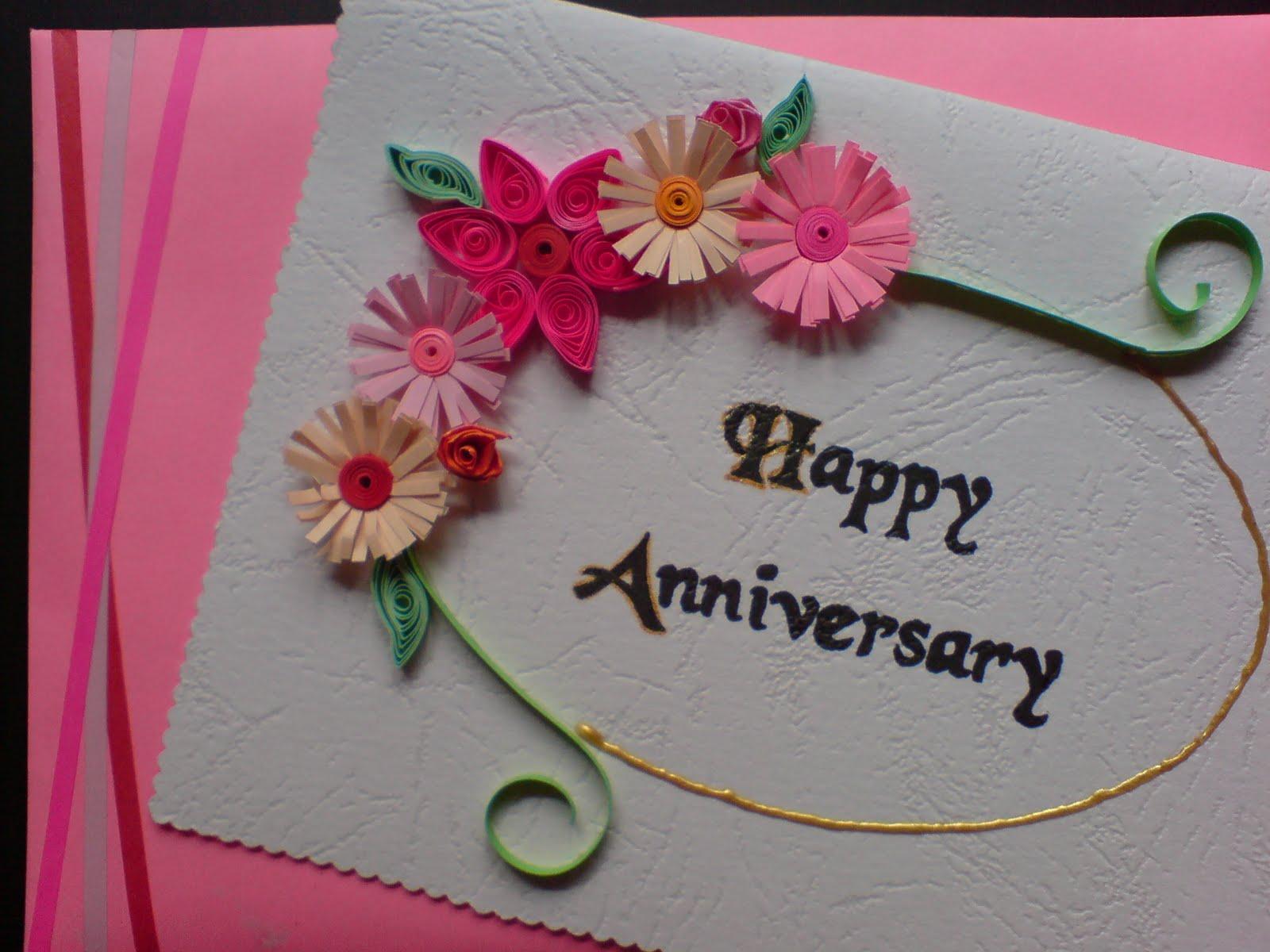 Handmade Wedding Anniversary Card Designs